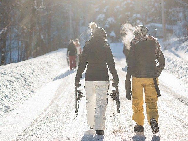 procházka na sněhu