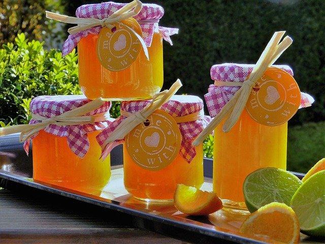domácí zavařeniny s citrusy